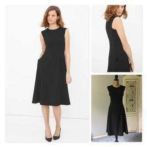 WHBM Bateau fit-and-flare dress w/pockets Sz 8